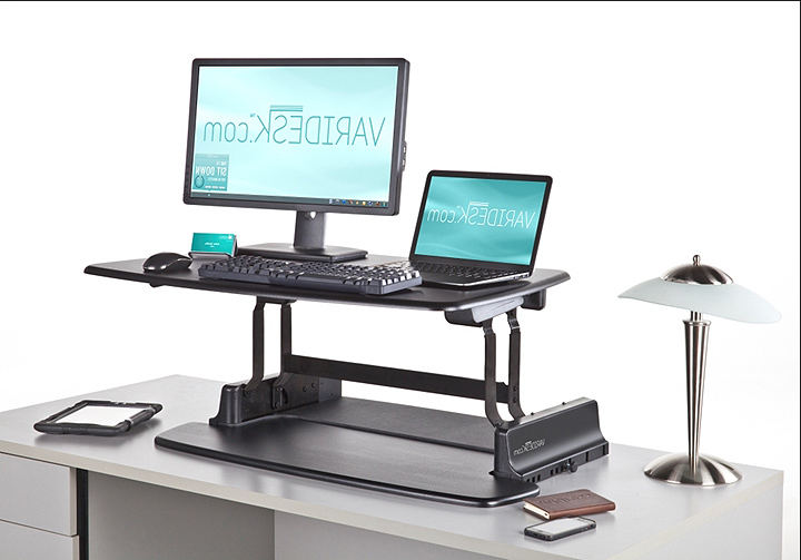 Sit Stand Desk >> pneumatic sit stand adjustable computer desk - Review and photo