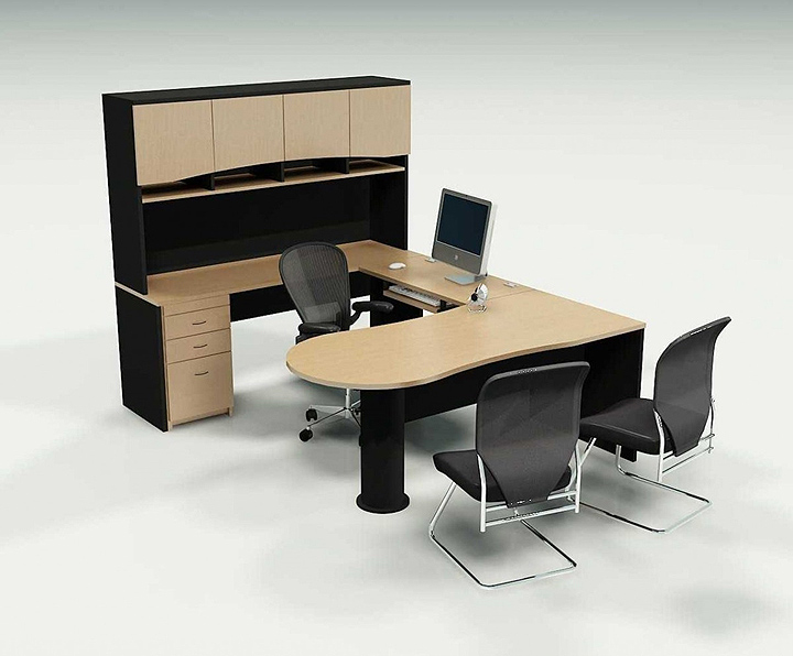 office desk with storage
