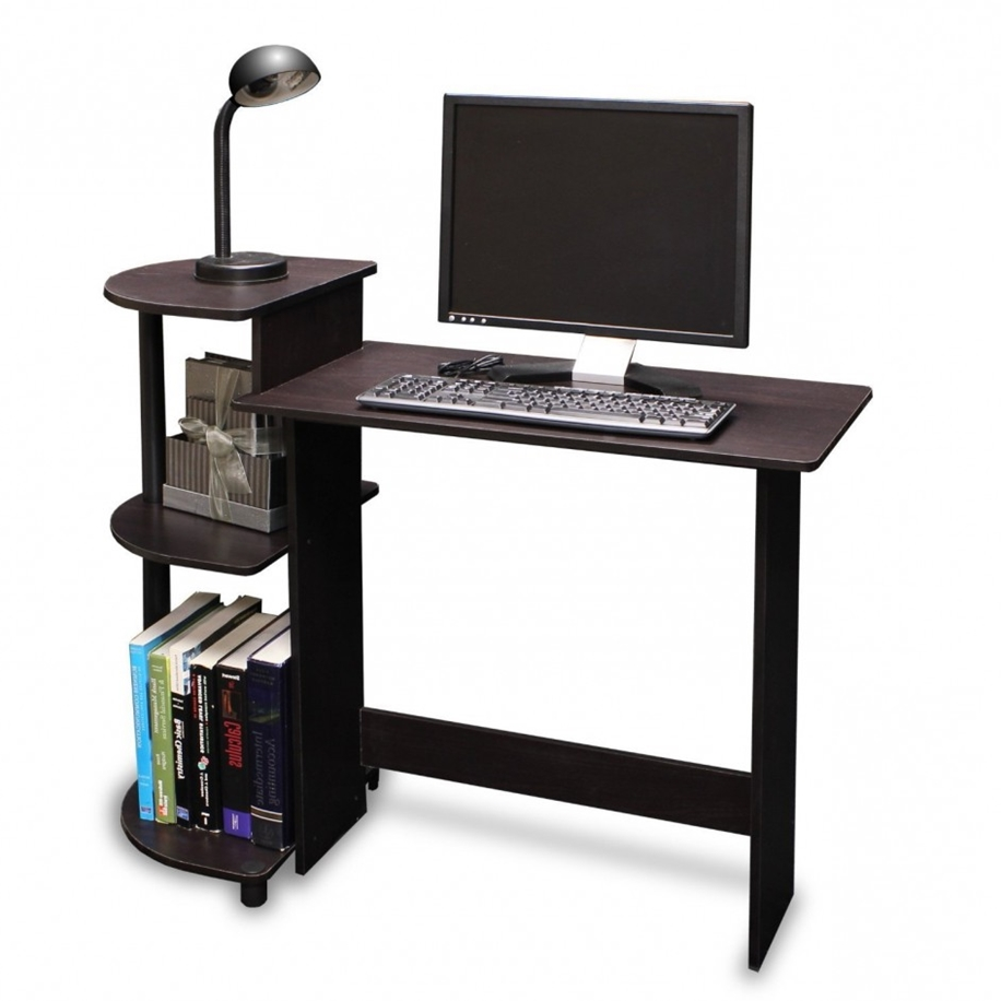 small computer desk on wheels