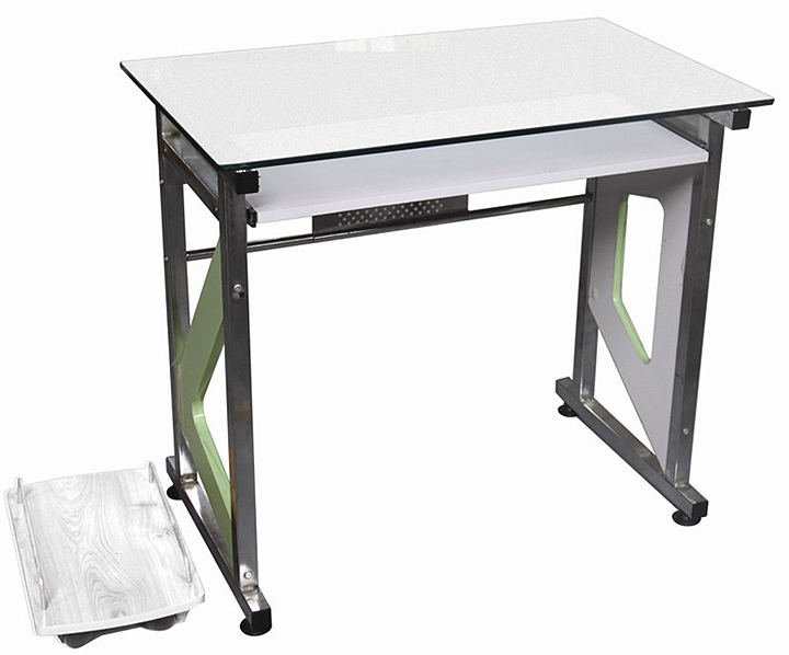 small computer desk that closes