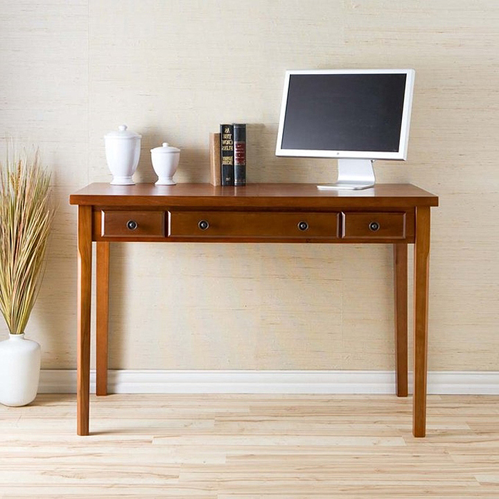 small computer desk with return