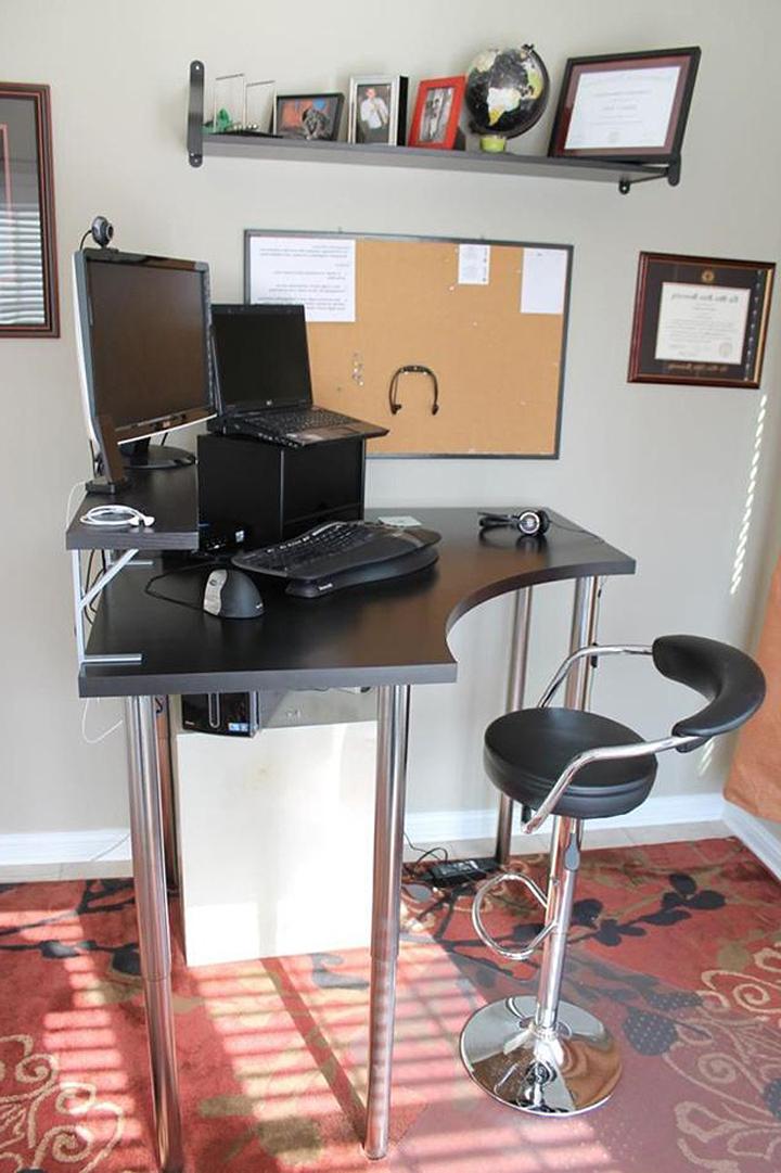 tall corner computer desks