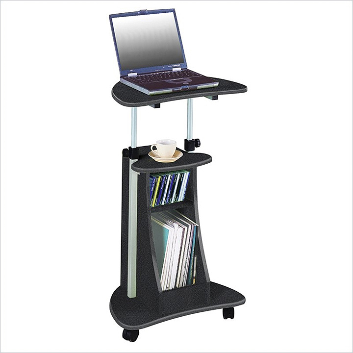 techni mobili mobile laptop cart steel mahogany