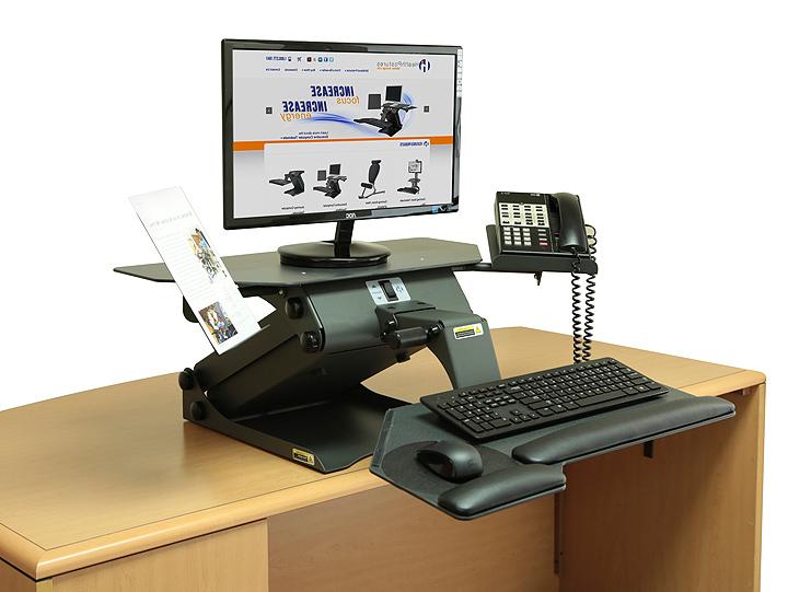 Ergonomic desktop computer stand