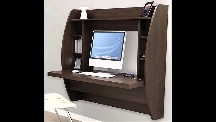 In wall laptop desk