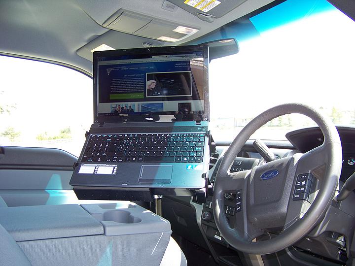 Laptop mount desk auto