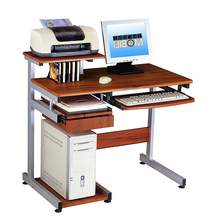 Portable computer desk with storage