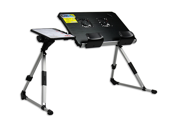 Portable laptop computer e-table desk