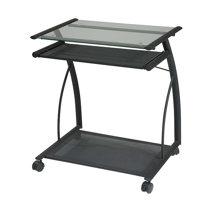 Rolling desktop computer stand