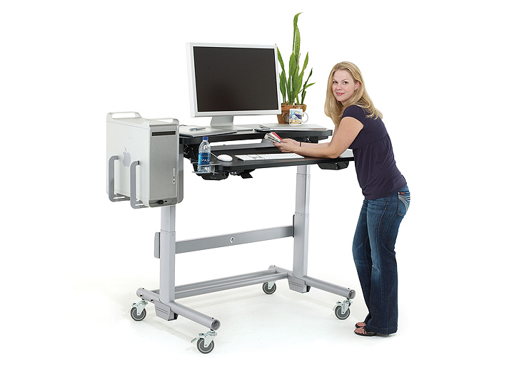 Sit stand desk relax the back
