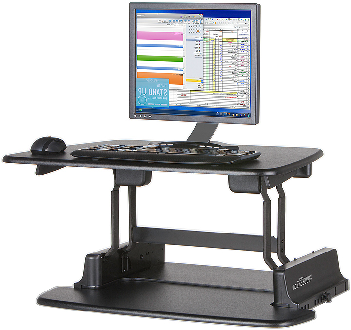 Sit stand desk retrofit