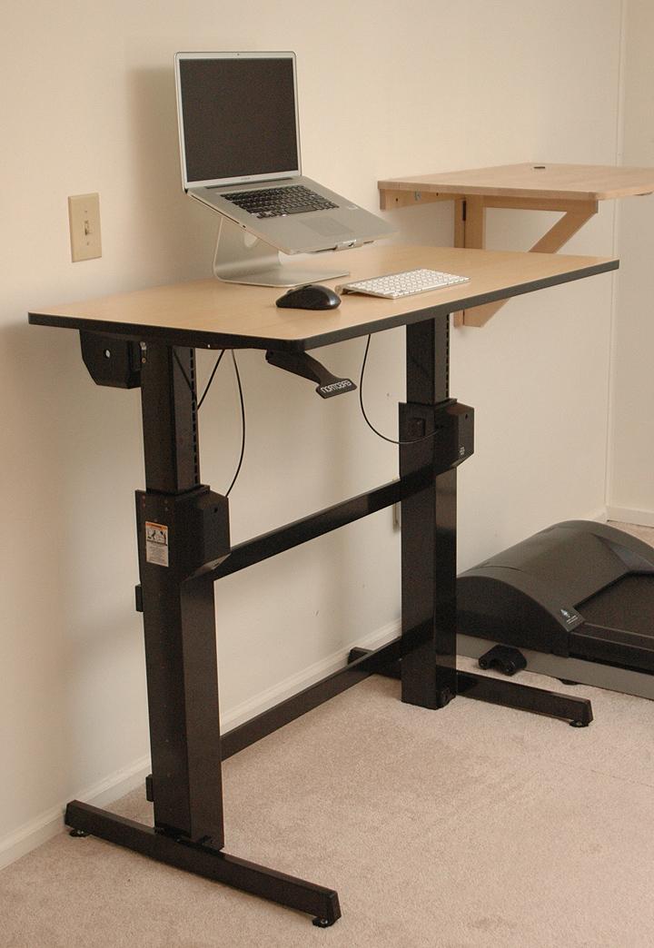 Sit stand tilt desk