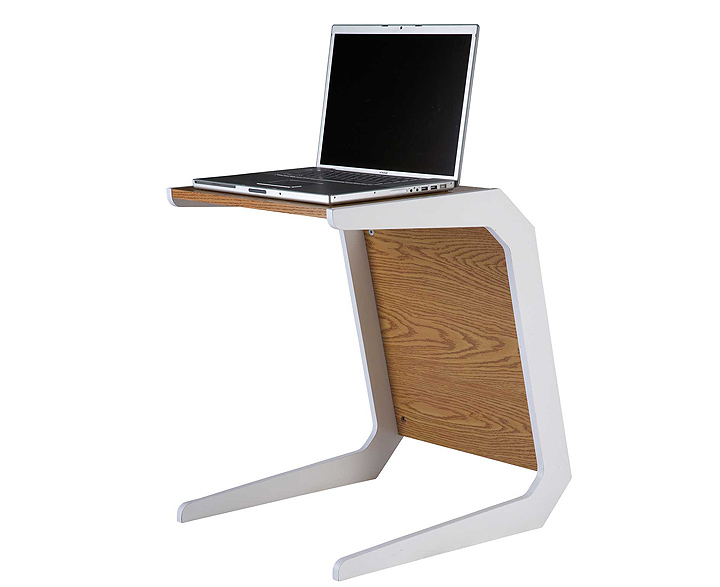 Small white laptop table