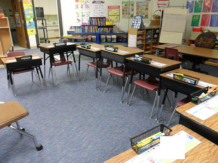 Student desk elementary school