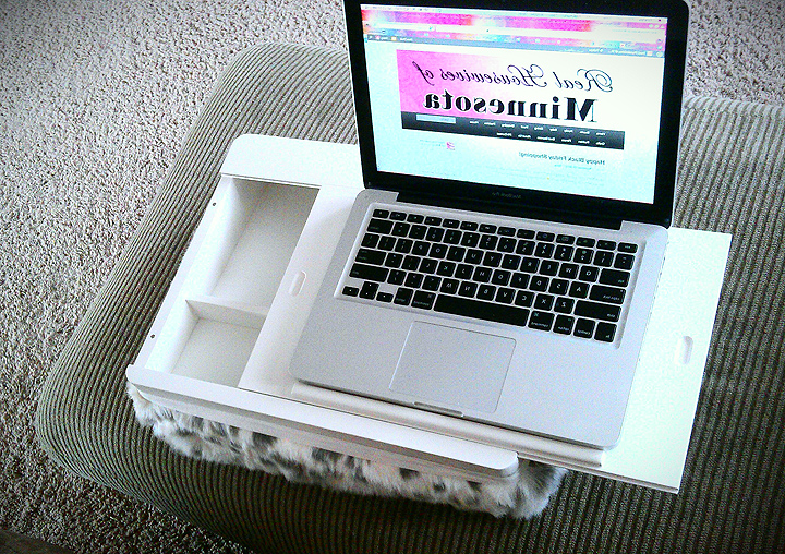 Travel lap desk with storage - Review and photo