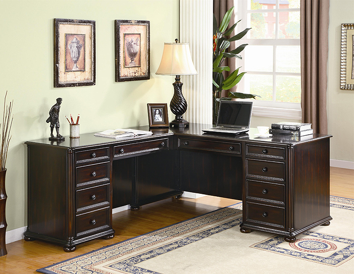 Wooden office furniture for the home