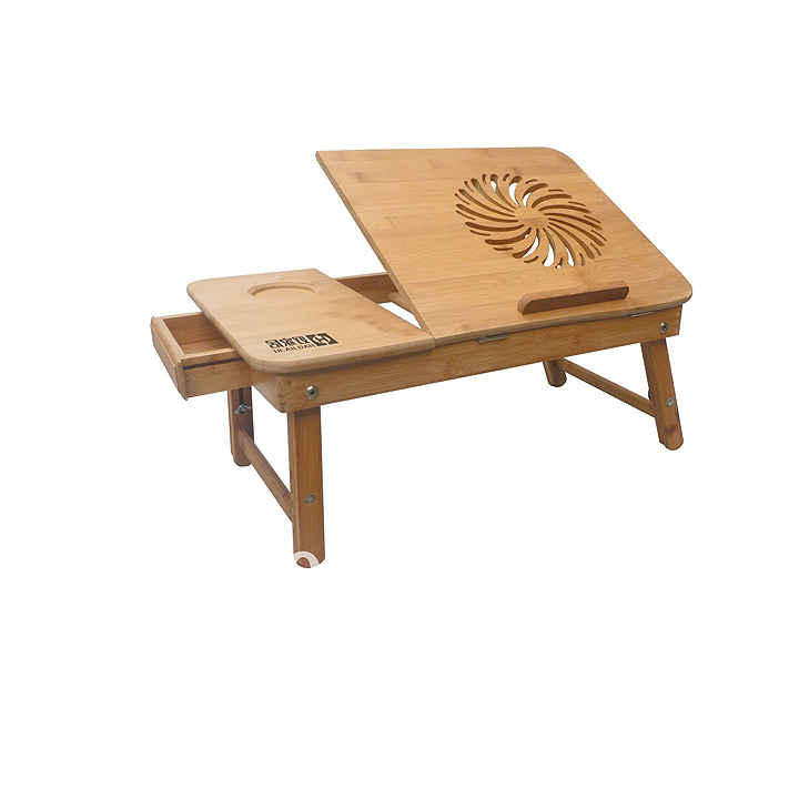 Wooden portable computer table